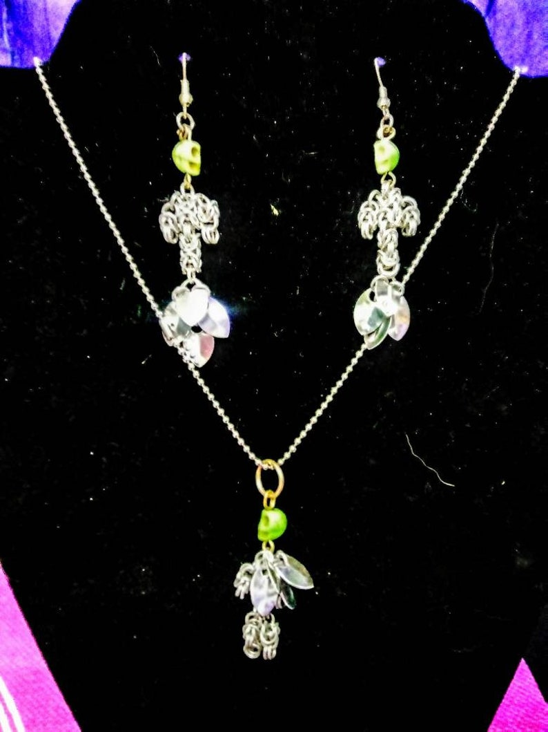 Fantasy  Skeleton Fairy and Mermaid Earrings Set
