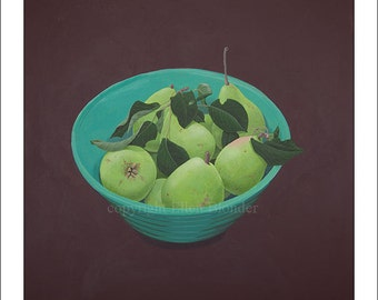 Pears, Large Giclee Print