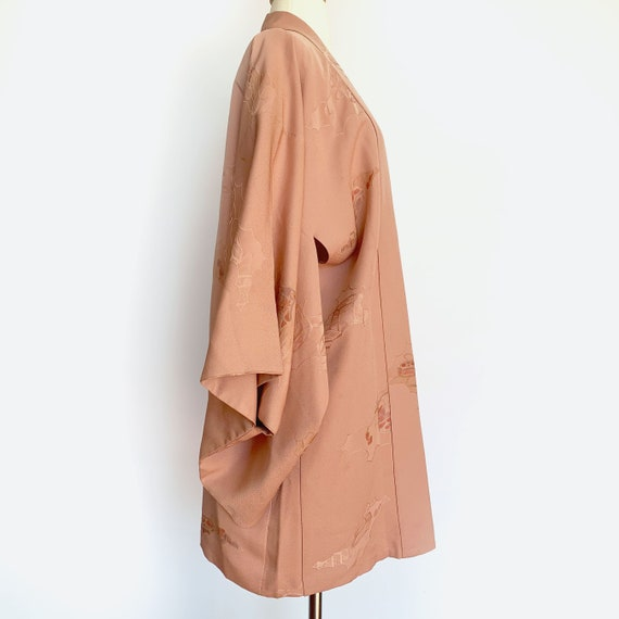 Dusty Rose Silk Short Kimono - image 3