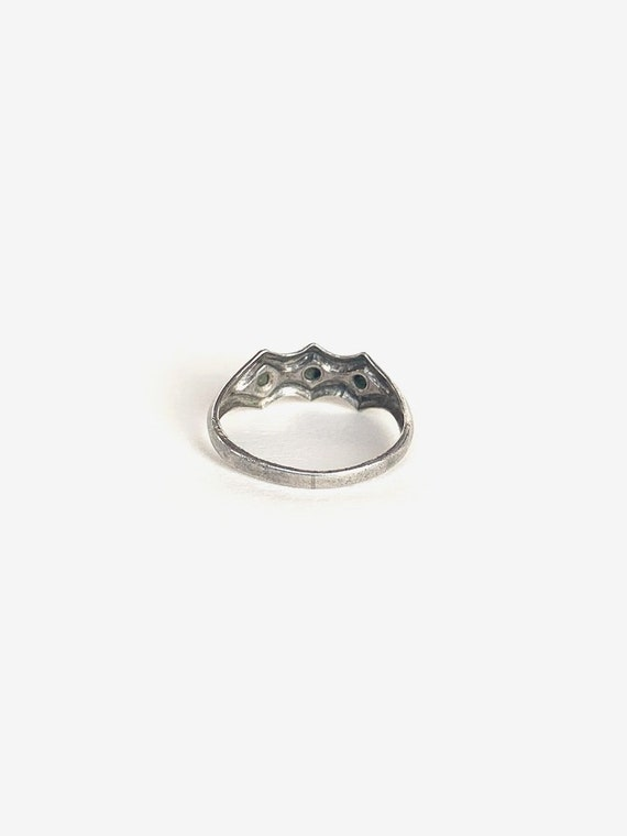 Simple Silver & Turquoise Ring - image 3