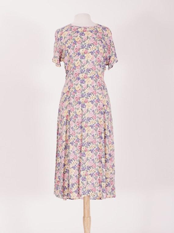90's Pastel Floral Dress
