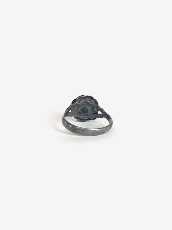 Rose Silver & Turquoise Ring - image 3