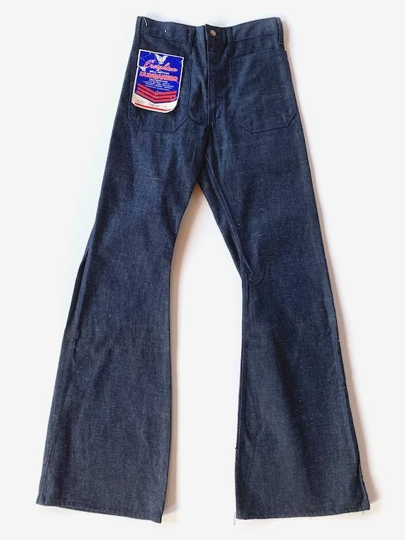 70's Deadstock Dark Wash Bell Bottom Jeans