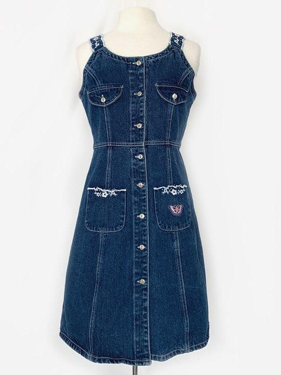 90's Denim Butterfly Dress