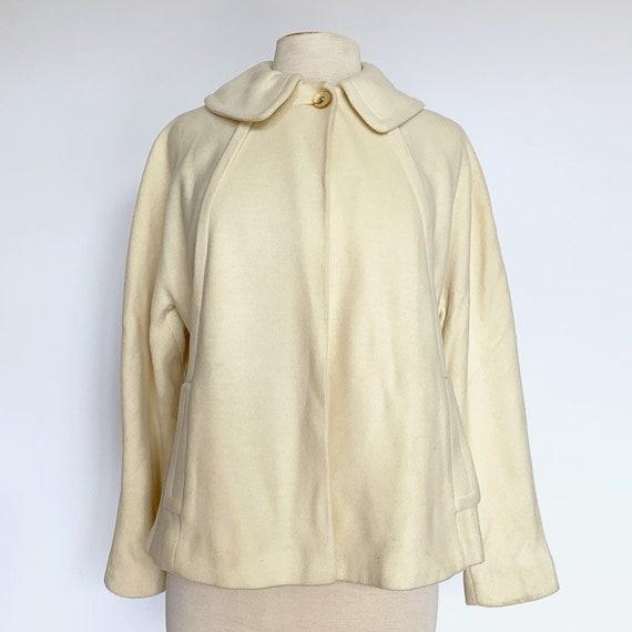 60's Cream Cropped Knit Jacket