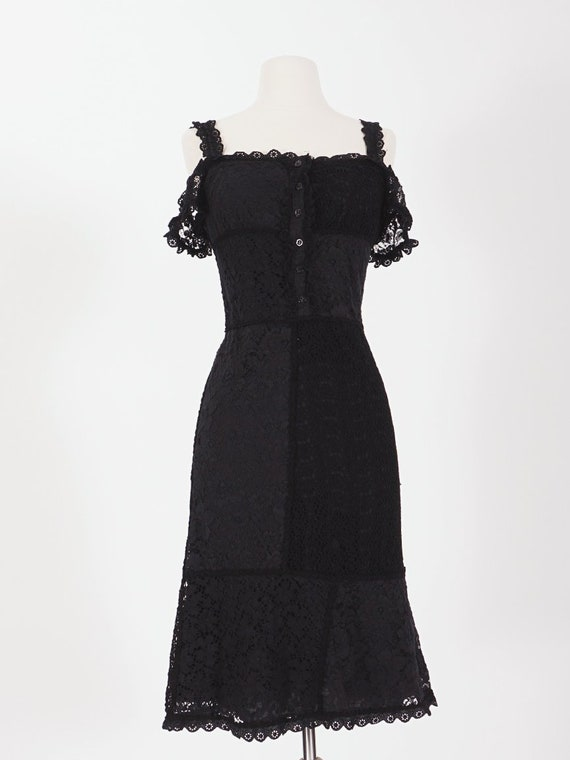 Moschino Black Lace Dress