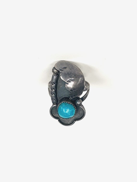 Mexican Silver & Turquoise Ring