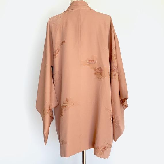 Dusty Rose Silk Short Kimono - image 4