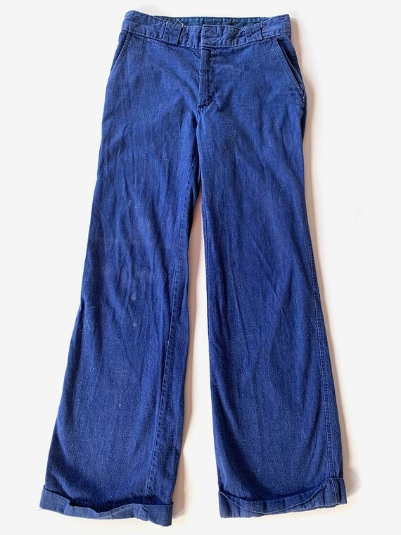 70's Flare Blue Jeans
