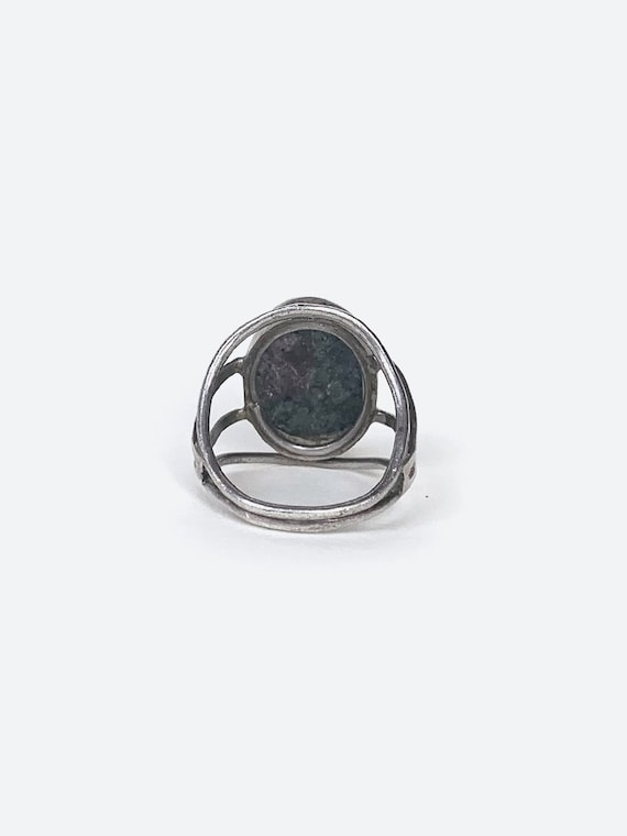 Grey Stone Silver Ring - image 4