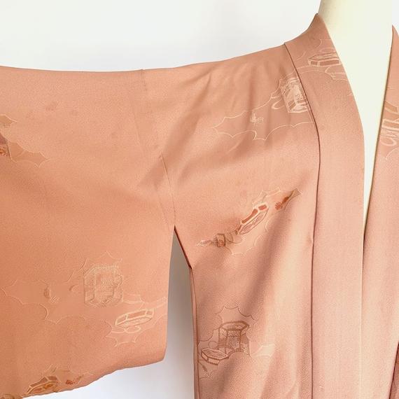 Dusty Rose Silk Short Kimono - image 6