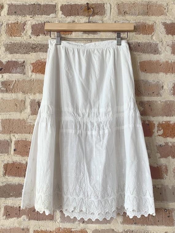 White Cotton Slip Skirt