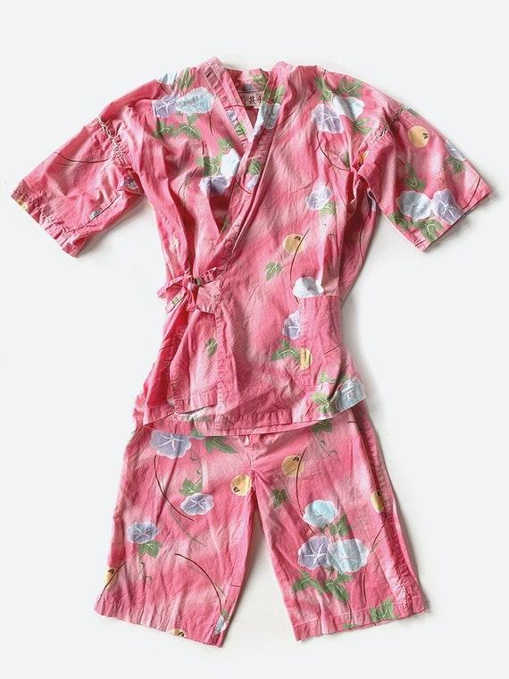 Light Pink Hawaiian Print Cotton Set
