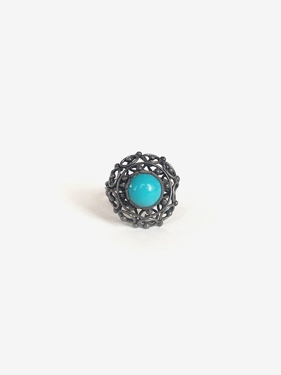 Intricate Silver & Turquoise Ring