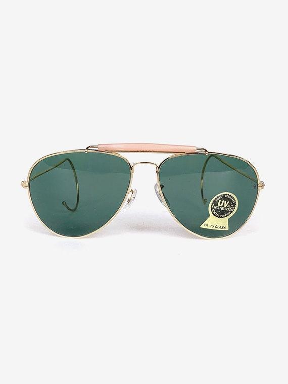 80's Gold Aviator Sunglasses