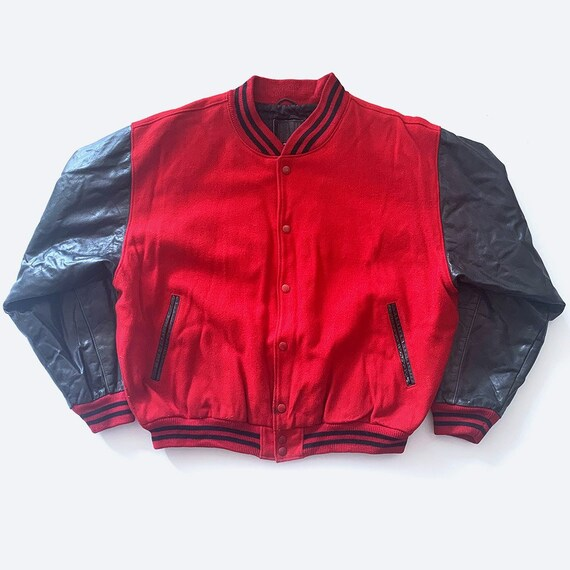 90's GAP Red & Black Bomber Jacket