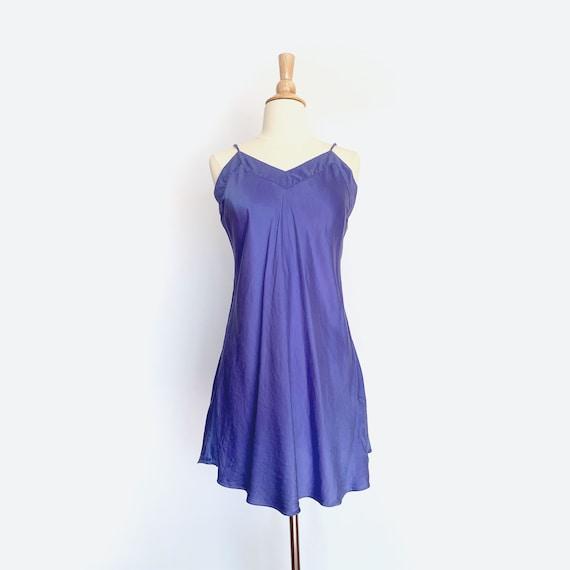 Silk Periwinkle Slip Dress