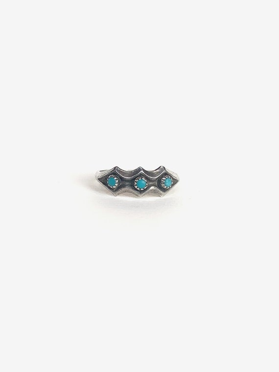 Simple Silver & Turquoise Ring