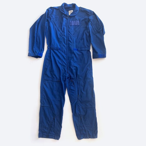 Blue Military Coverall Jumpsuit