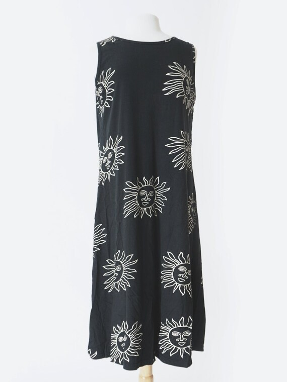 90's Black Sun Sleeveless Dress