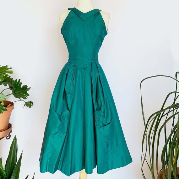 50's Teal Cocktail Dress