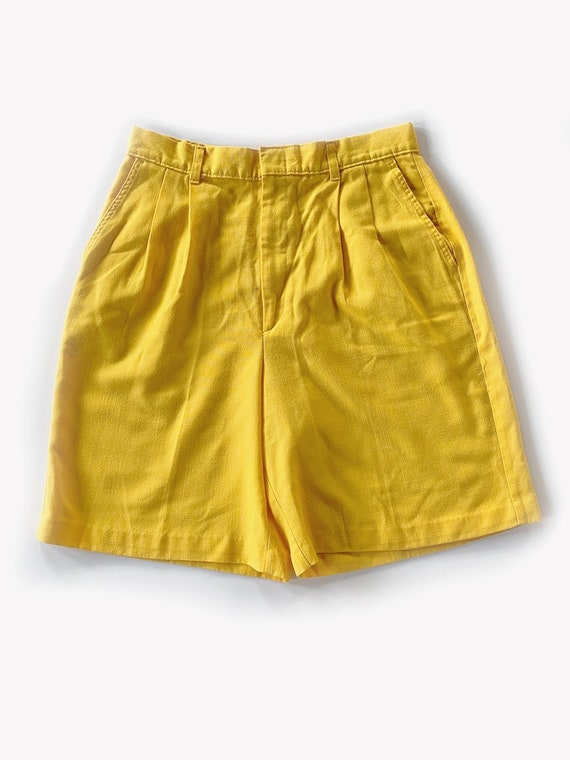 Yellow High Waisted Shorts