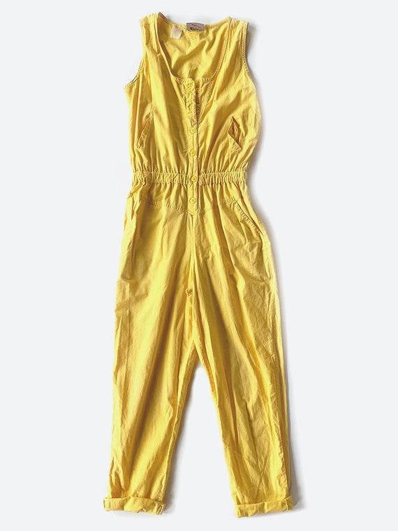 Yellow Sleeveless Jumpsuit