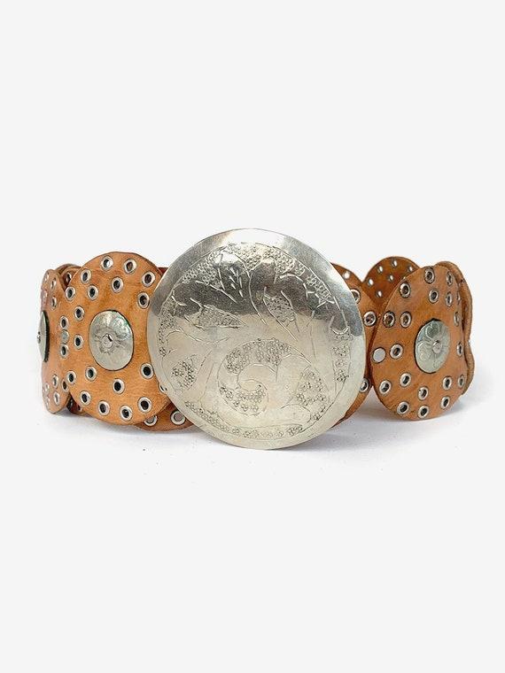 70's Round Leather Belt