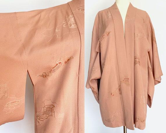 Dusty Rose Silk Short Kimono - image 1
