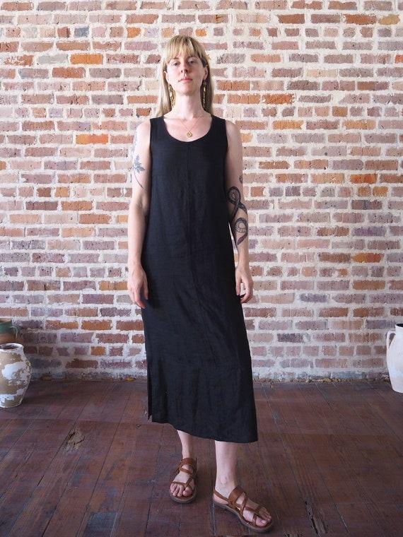 Small Black Linen Dress
