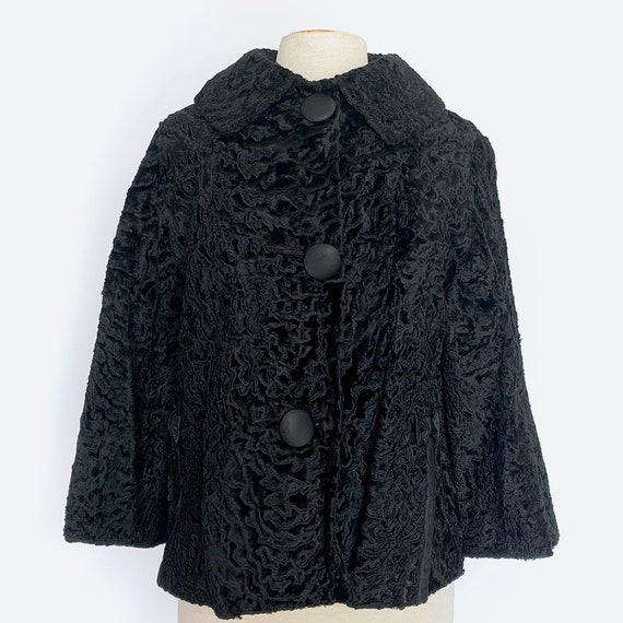 60's Cropped Faux Fur Jacket