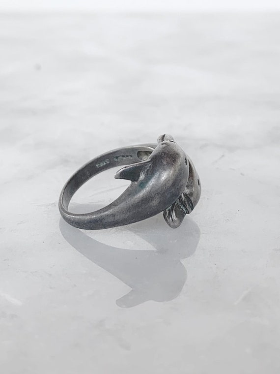 Silver Dolphins Ring - image 1