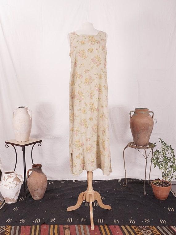 Floral Linen Maxi Dress