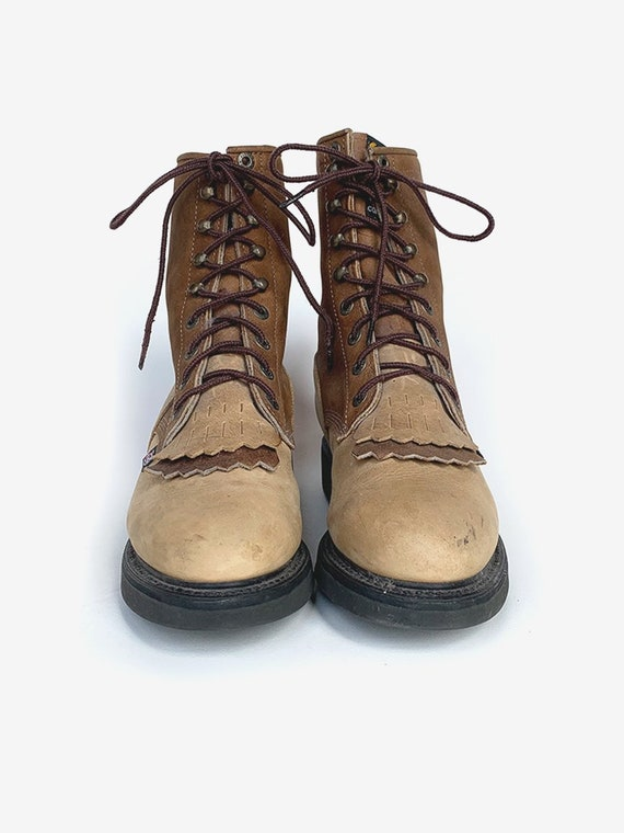 Justin' Brown Leather Boots