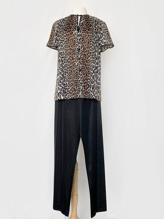 70's Leopard Pajama Set