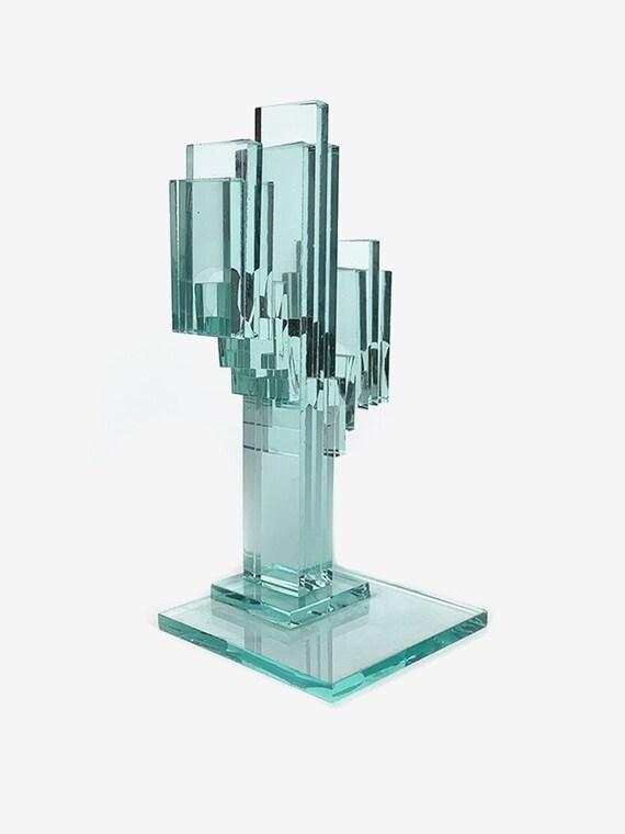 Glass Cactus Statue
