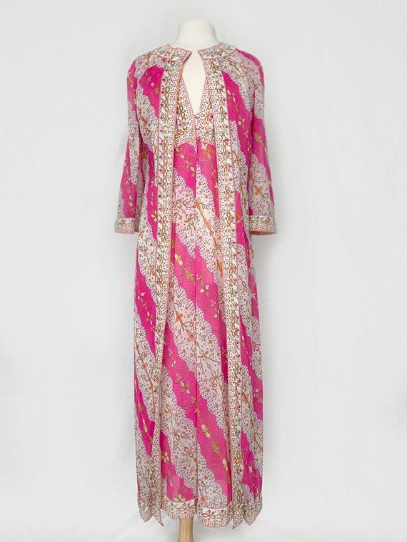 70's Emilio Pucci Pink Floral Slip Set