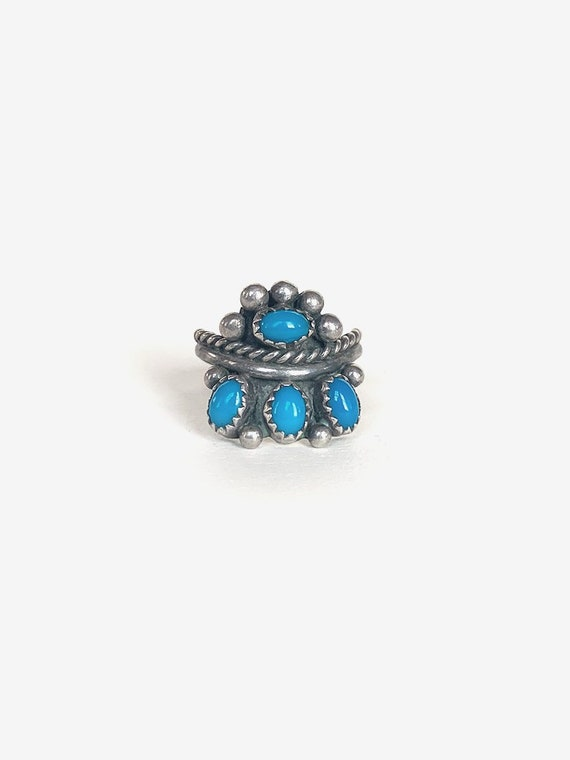 Unique Silver & Blue Turquoise Ring