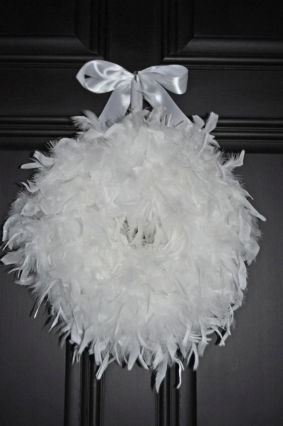 Wedding Wreath Wedding Decor White Wreath Wedding Ideas White Etsy