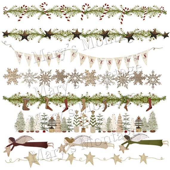 Christmas Border Design Png.Primitive Christmas Borders Png Download