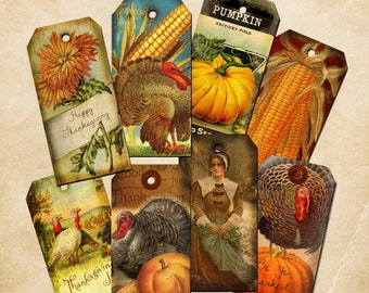 Thanksgiving Tags Download & Print 8.5x11 sheet