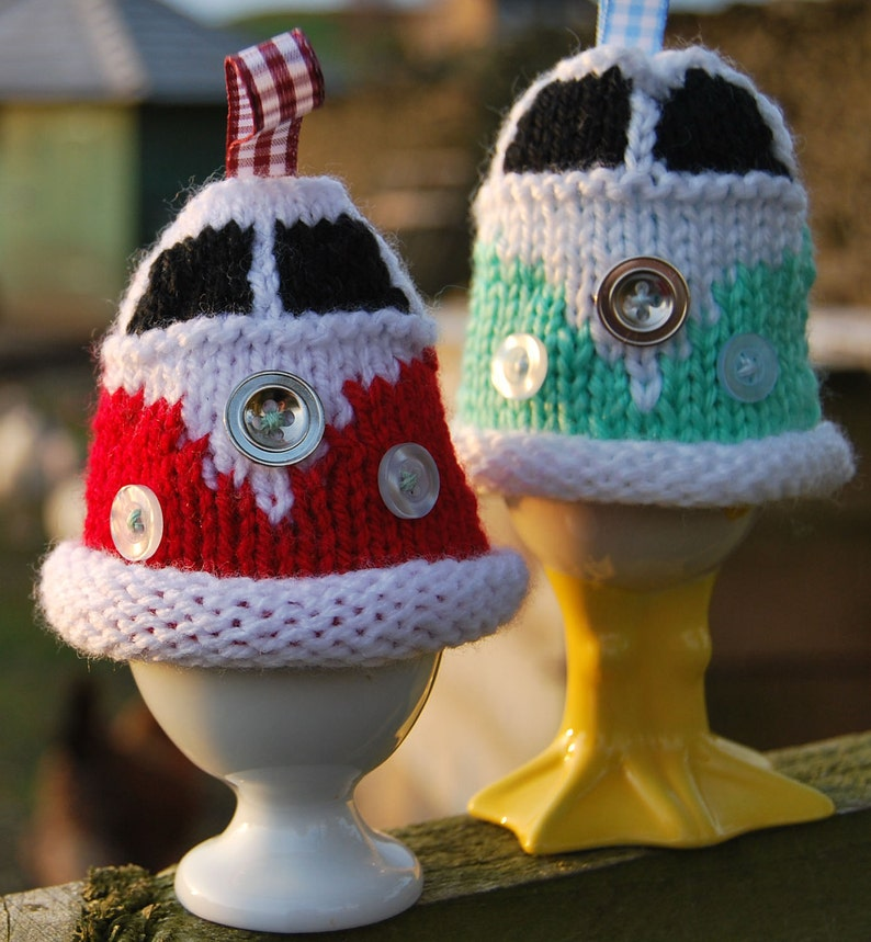 Knitting Pattern  Knit a Campervan Egg Cosy image 0
