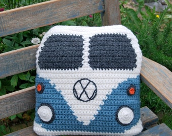 PDF Crochet Pattern to make yourself a Campervan Cushion Cover