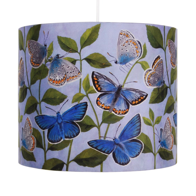 Butterflies Lampshade  20cm or 30cm  handmade silk shade Medium [30cm]