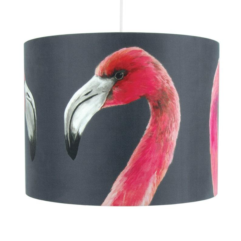 Flamingo Lampshade  Large 40cm handmade silk shade image 1
