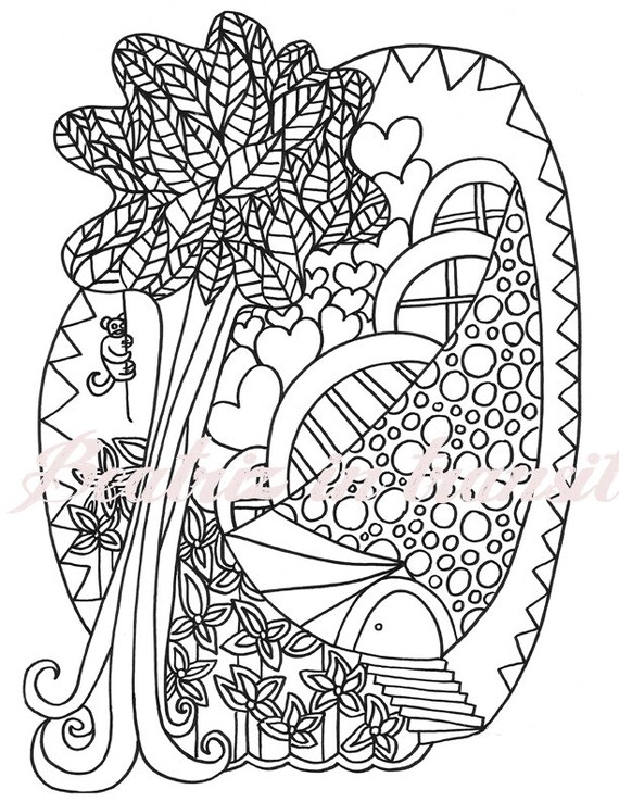 - Jungle House Printable Coloring Pages / Instant Download / Etsy