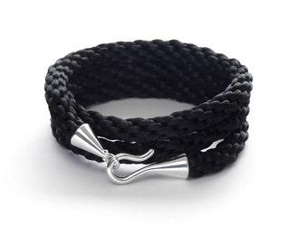 Cuff Bracelet / Wrap Bracelet / Black Bracelet / Best Friend Bracelet / Cord Bracelet / Mens Bracelet / Bracelets for Women / Woven Bracelet