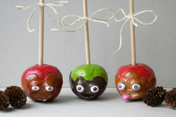 Candy Apple Home Decor Caramel Apple Decor Polymer Clay Etsy