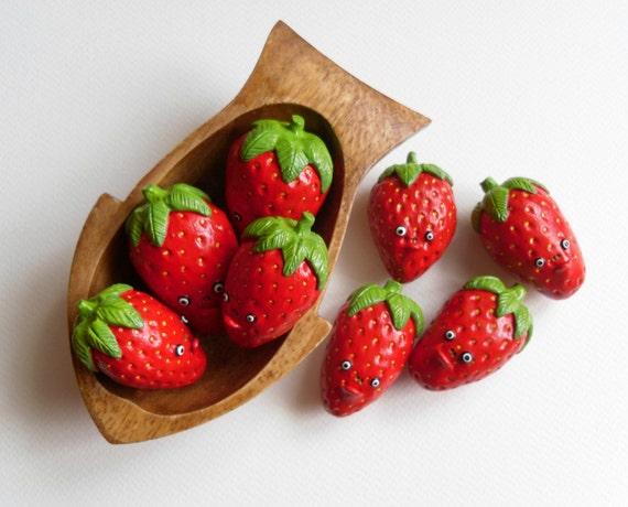 Polymer Clay Erdbeere Figur Erdbeere Home Dekor Obst Küche
