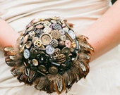 Steampunk Wedding Bouquet for the Alternative Bride